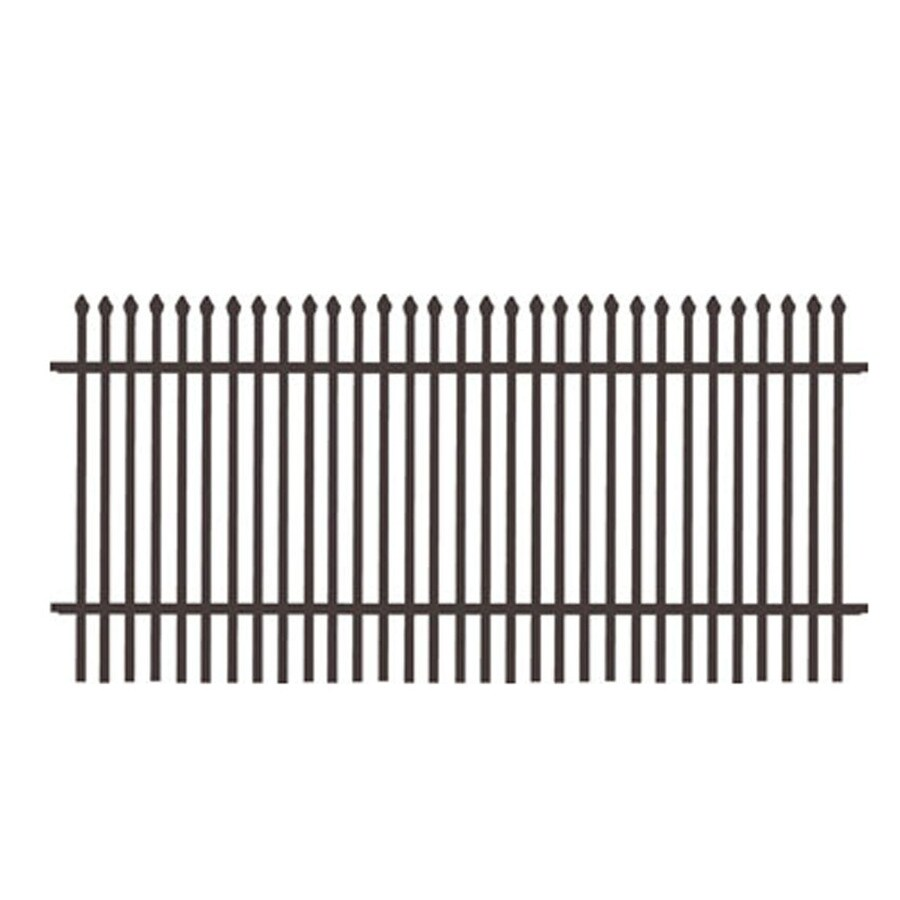 Freedom (Common: 6-ft x 6-ft; Actual: 5.89-ft x 6.02-ft) Standard Oxford Black Aluminum Decorative Fence Panel