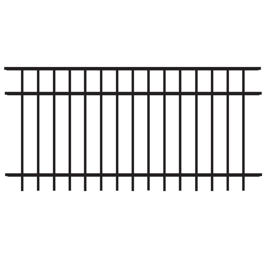 Freedom (Common: 3-ft x 6-ft; Actual: 2.91-ft x 6.02-ft) Standard New Haven Black Aluminum Decorative Fence Panel