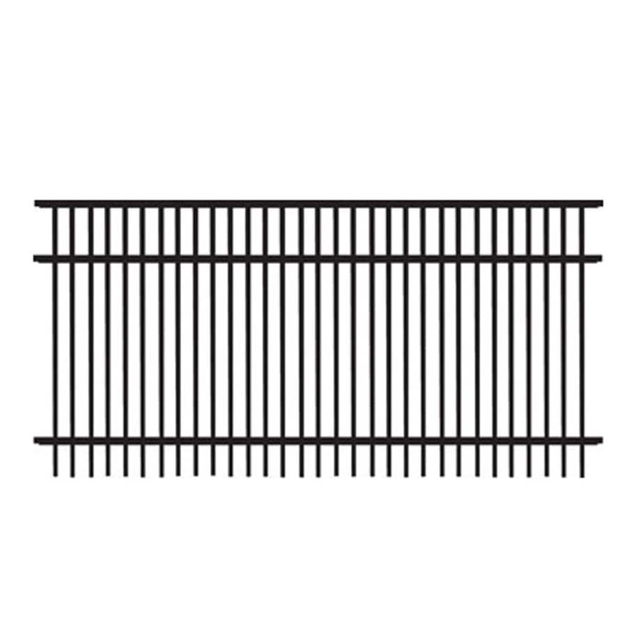 Freedom (Common: 3-ft x 6-ft; Actual: 2.91-ft x 6.02-ft) Standard Sheffield Black Aluminum Decorative Fence Panel