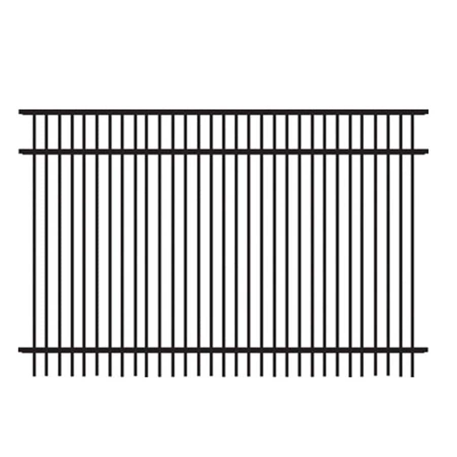 Freedom (Common: 4-ft x 6-ft; Actual: 3.91-ft x 6.02-ft) Standard Sheffield Black Aluminum Decorative Fence Panel