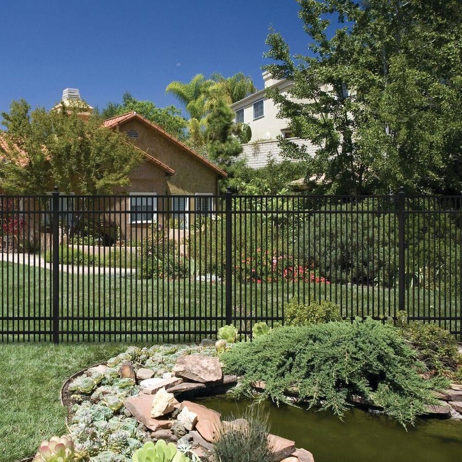 Freedom (Common: 6-ft x 6-ft; Actual: 5.91-ft x 6.02-ft) Standard Sheffield Black Aluminum Decorative Fence Panel