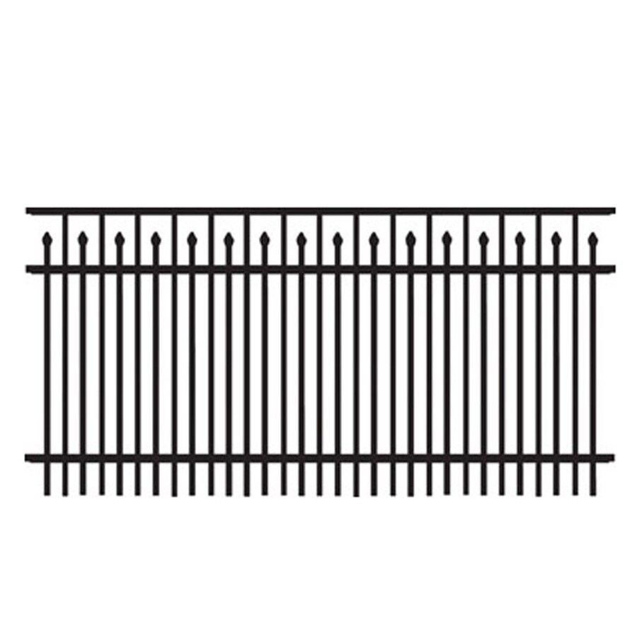 Freedom (Actual: 2.91-ft x 6.02-ft) Standard York Black Aluminum Decorative Fence Panel