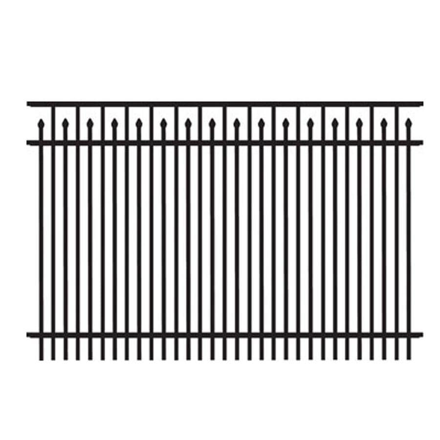 Freedom Standard York Black Aluminum Decorative Fence Panel (Common: 4-ft x 6-ft; Actual: 3.91-ft x 6.02-ft)