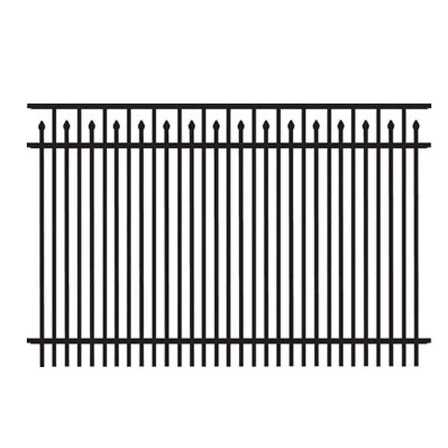 Freedom (Actual: 3.91-ft x 6.02-ft) Standard York Black Aluminum Decorative Fence Panel