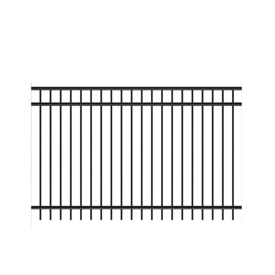 Freedom (Common: 5-ft x 8-ft; Actual: 4.91-ft x 7.89-ft) Heavy Duty New Haven Black Aluminum Decorative Fence Panel