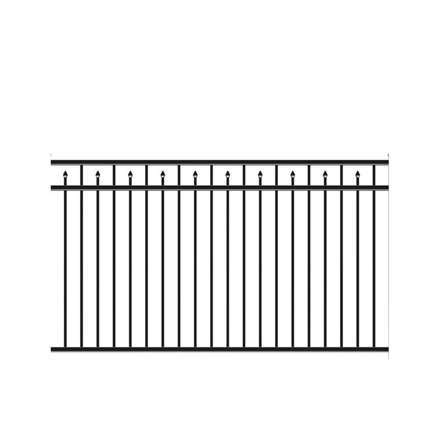 Freedom (Actual: 4.53-ft x 7.89-ft) Heavy Duty Concord Black Aluminum Decorative Fence Panel