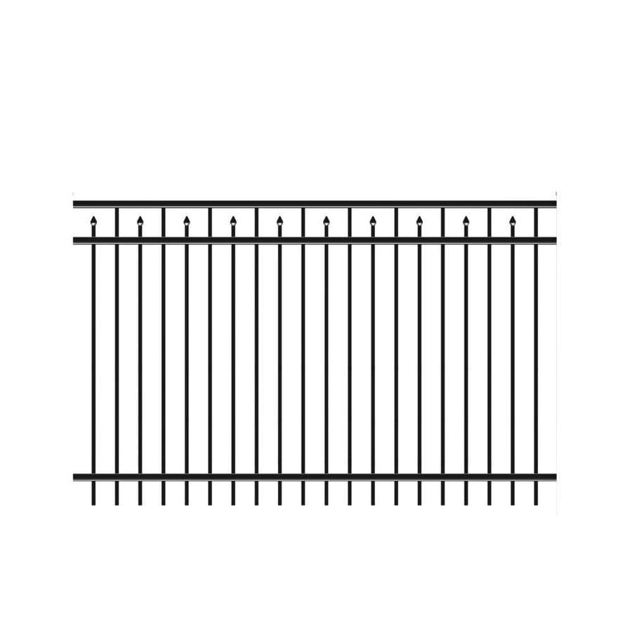 Freedom Heavy Duty Concord Black Aluminum Decorative Fence Panel (Common: 5-ft x 8-ft; Actual: 4.91-ft x 7.89-ft)