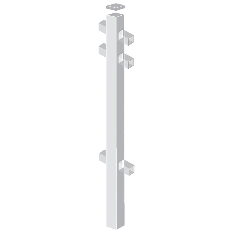 Freedom (Common: 2-in x 2-in x 7-ft; Actual: 2-in x 2-in x 6.83-ft) Standard White Aluminum Line Post
