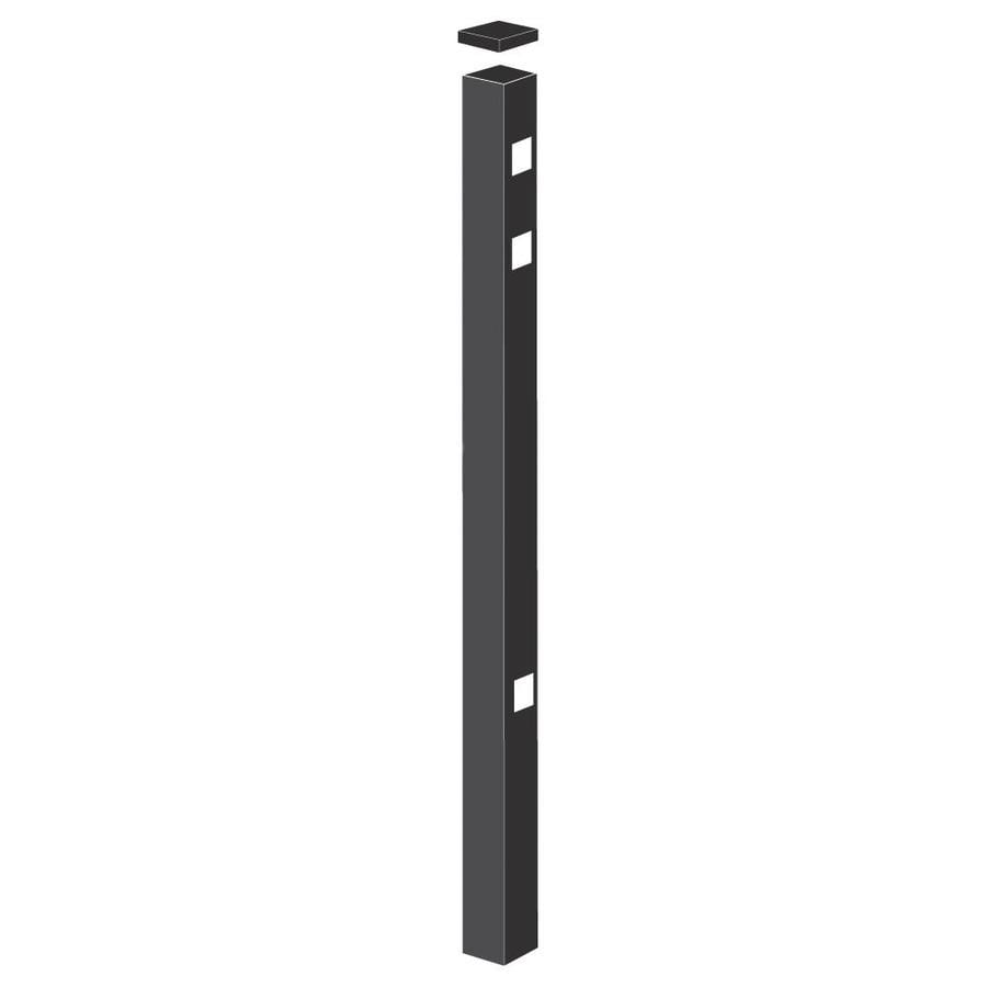 Freedom (Common: 2-1/2-in x 2-1/2-in x 6-ft; Actual: 2.5-in x 2.5-in x 5.83-ft) Heavy-Duty Black Aluminum End Post