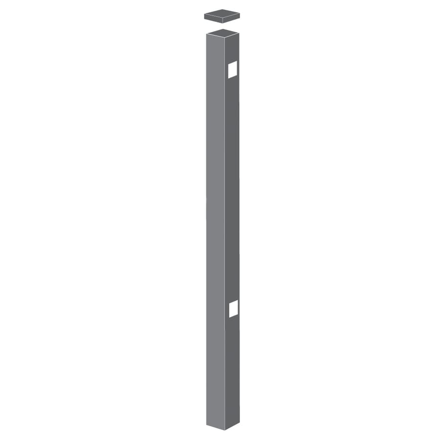 Freedom (Common: 2-1/2-in x 2-1/2-in x 6-ft; Actual: 2.5-in x 2.5-in x 5.83-ft) Heavy-Duty Pewter Aluminum Gate Post