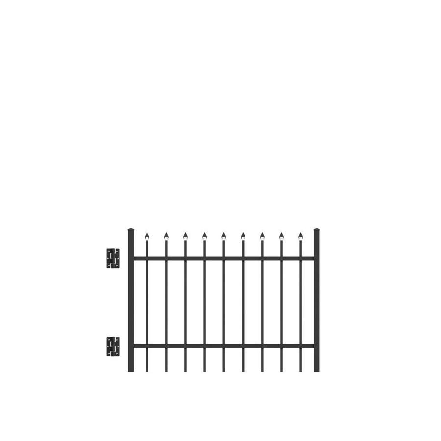 Freedom (Common: 3-ft x 4-ft; Actual: 2.88-ft x 3.875-ft) Providence Black Aluminum Decorative Fence Gate