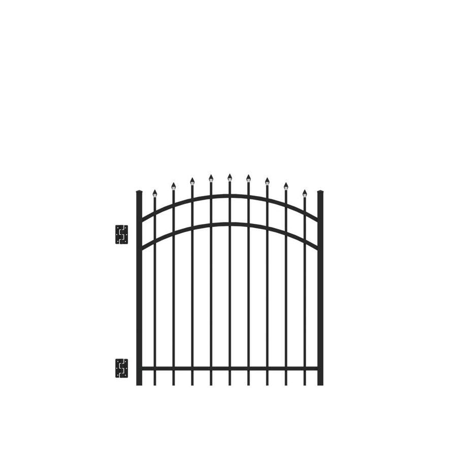 Freedom (Common: 4-ft x 4-ft; Actual: 4.02-ft x 3.875-ft) Providence Black Aluminum Decorative Fence Gate