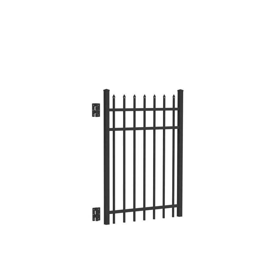 Freedom Providence Black Aluminum Decorative Fence Gate (Common: 4-ft x 3-ft; Actual: 4.02-ft x 2.875-ft)