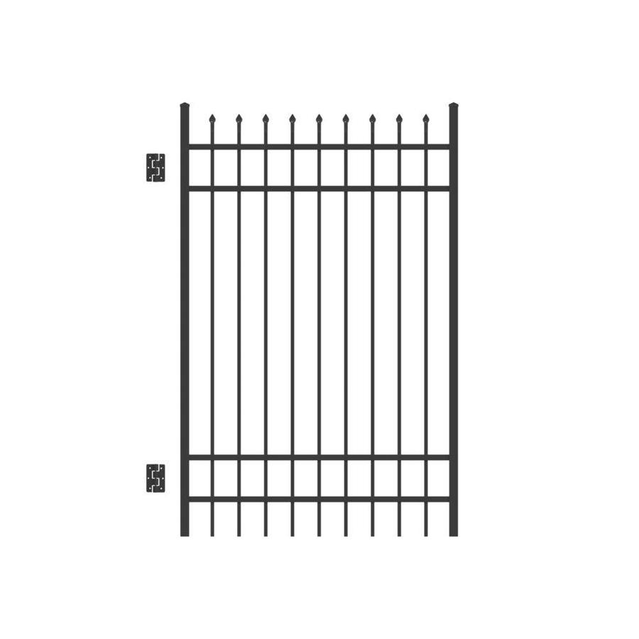 Freedom Providence Black Aluminum Decorative Fence Gate (Common: 6-ft x 4-ft; Actual: 6.02-ft x 3.875-ft)