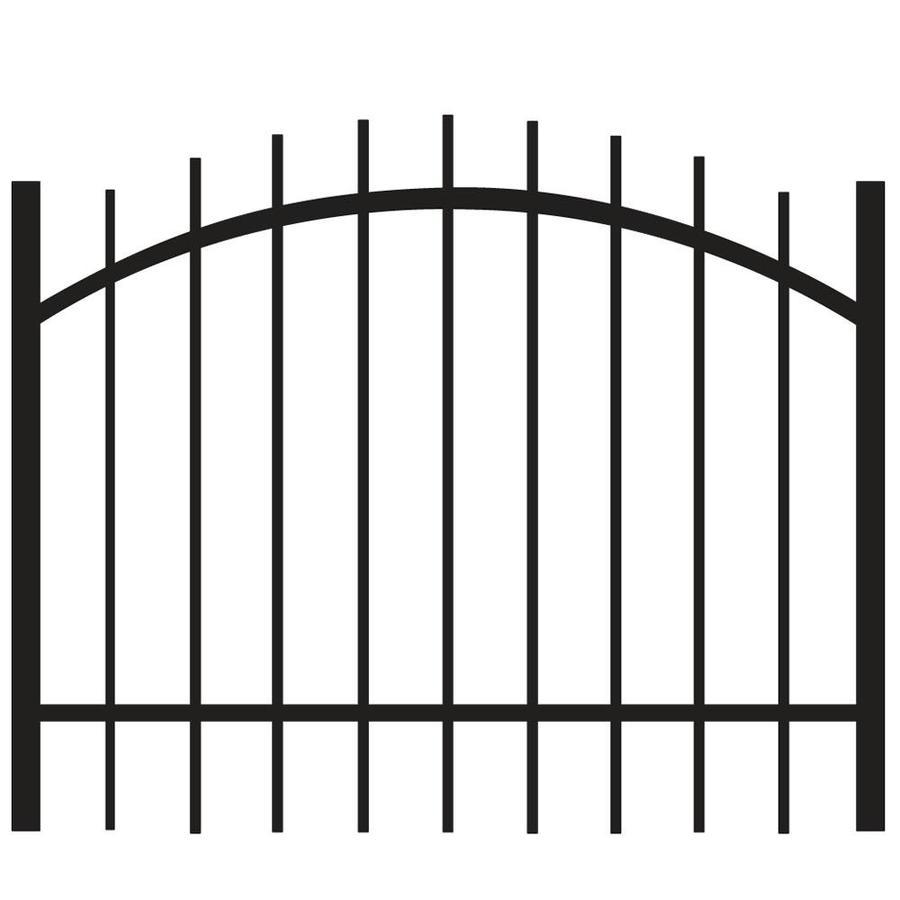 Freedom (Common: 3-ft x 4-ft; Actual: 2.88-ft x 3.875-ft) Hudson Black Aluminum Decorative Fence Gate
