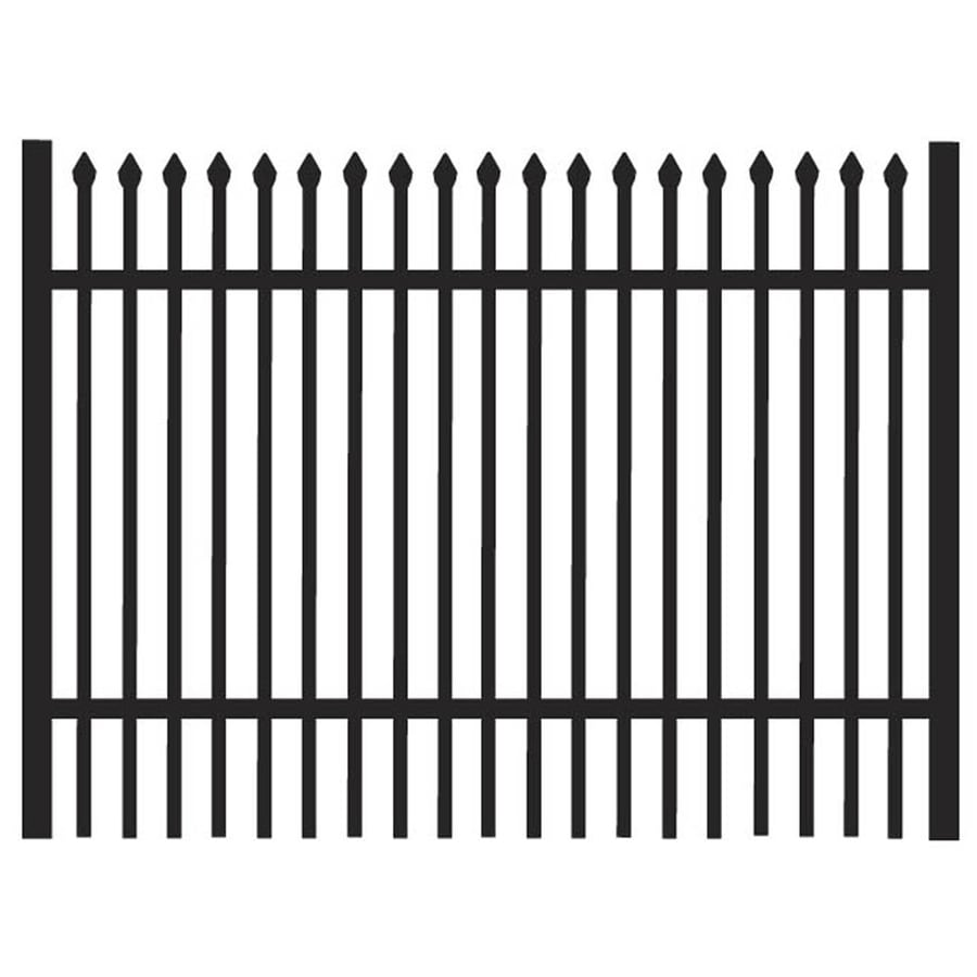 Freedom Oxford Black Aluminum Decorative Fence Gate (Common: 3-ft x 4-ft; Actual: 2.88-ft x 3.875-ft)