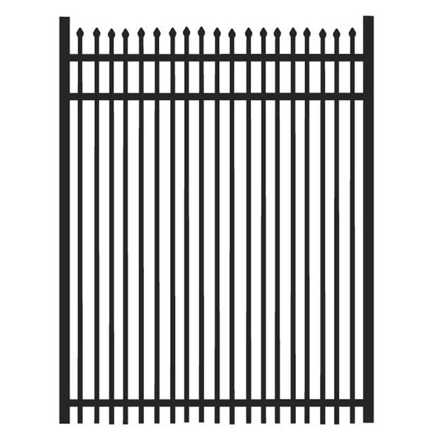 Freedom (Common: 5-ft x 4-ft; Actual: 5.02-ft x 3.875-ft) Oxford Black Aluminum Decorative Fence Gate