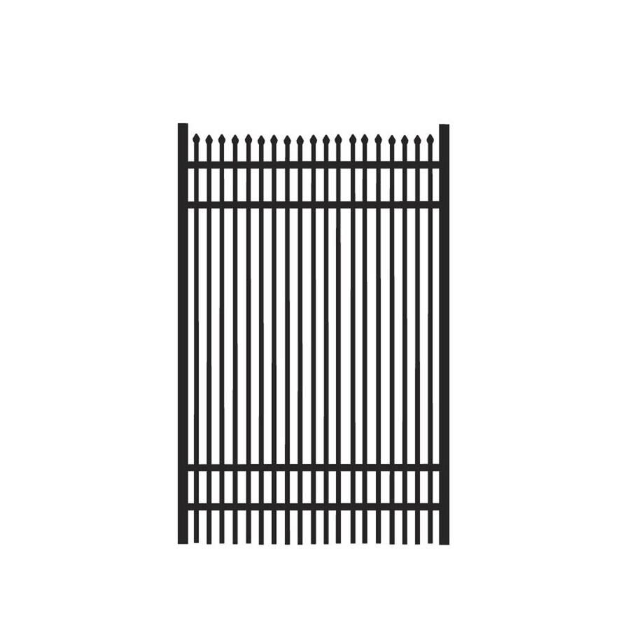 Freedom (Common: 6-ft x 4-ft; Actual: 6.02-ft x 3.875-ft) Oxford Black Aluminum Decorative Fence Gate