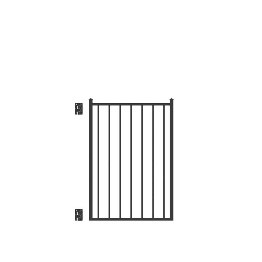 Freedom (Common: 4-ft x 3-ft; Actual: 4.125-ft x 2.875-ft) Easton Black Aluminum Decorative Fence Gate