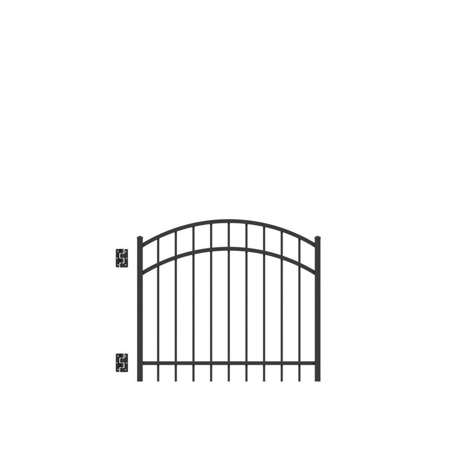 Freedom (Common: 3-ft x 4-ft; Actual: 3.04-ft x 3.875-ft) New Haven Black Aluminum Decorative Fence Gate
