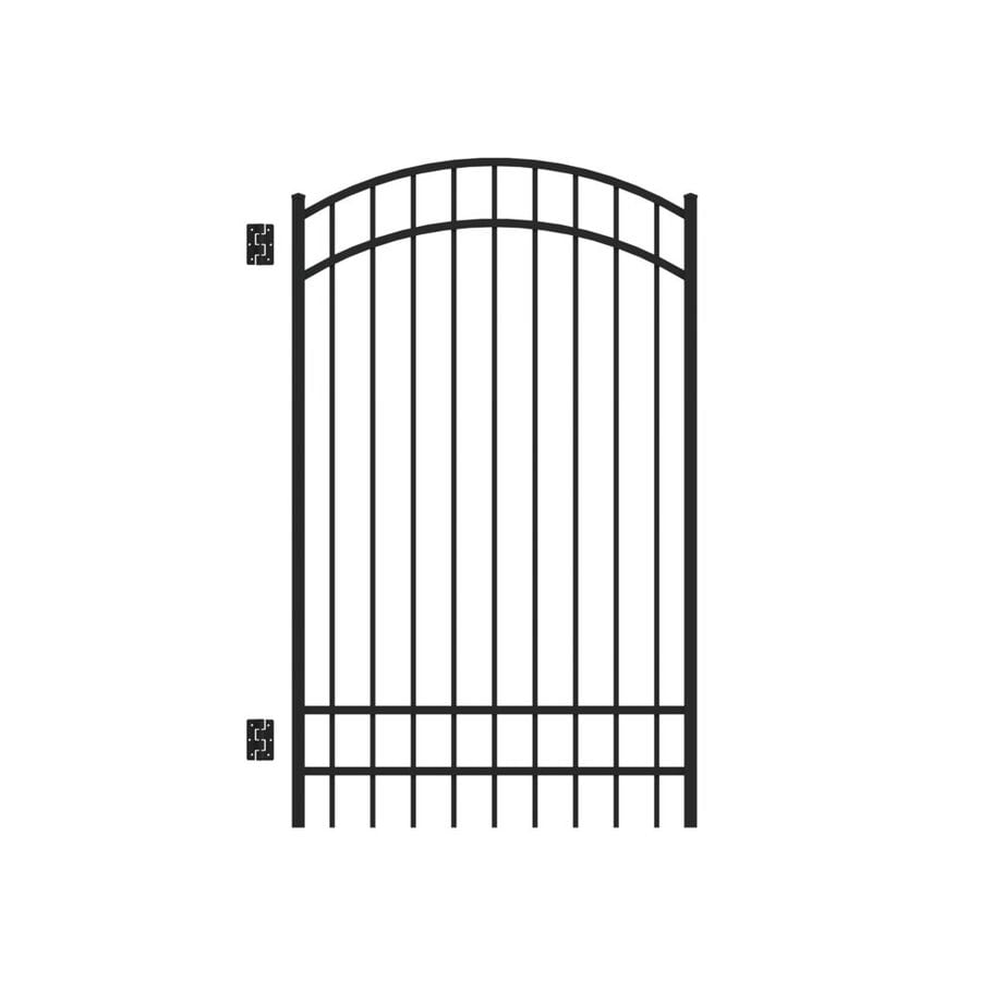 Freedom New Haven Black Aluminum Decorative Fence Gate (Common: 6-ft x 4-ft; Actual: 6.04-ft x 3.875-ft)
