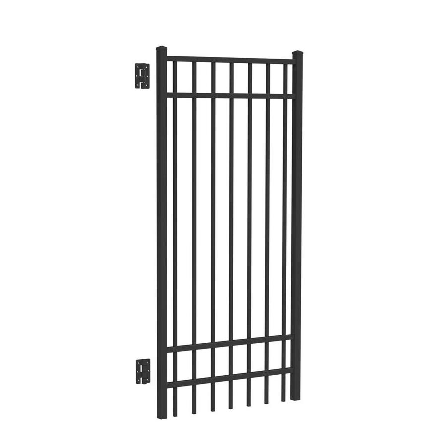 Freedom New Haven Black Aluminum Decorative Fence Gate (Common: 6-ft x 3-ft; Actual: 6.04-ft x 2.875-ft)
