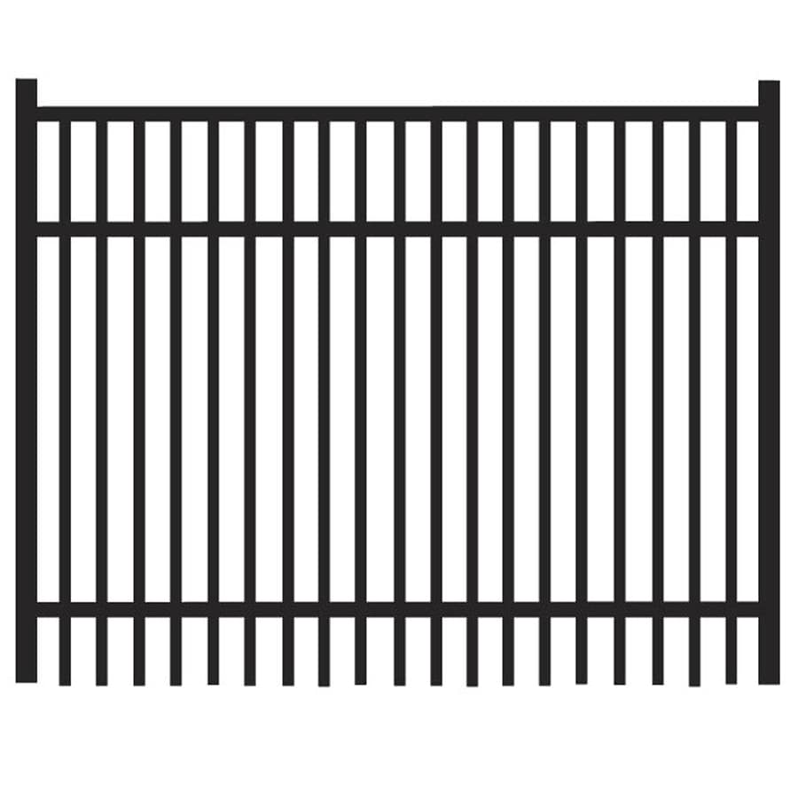 Freedom (Common: 3-ft x 4-ft; Actual: 3.04-ft x 3.875-ft) Sheffield Black Aluminum Decorative Fence Gate