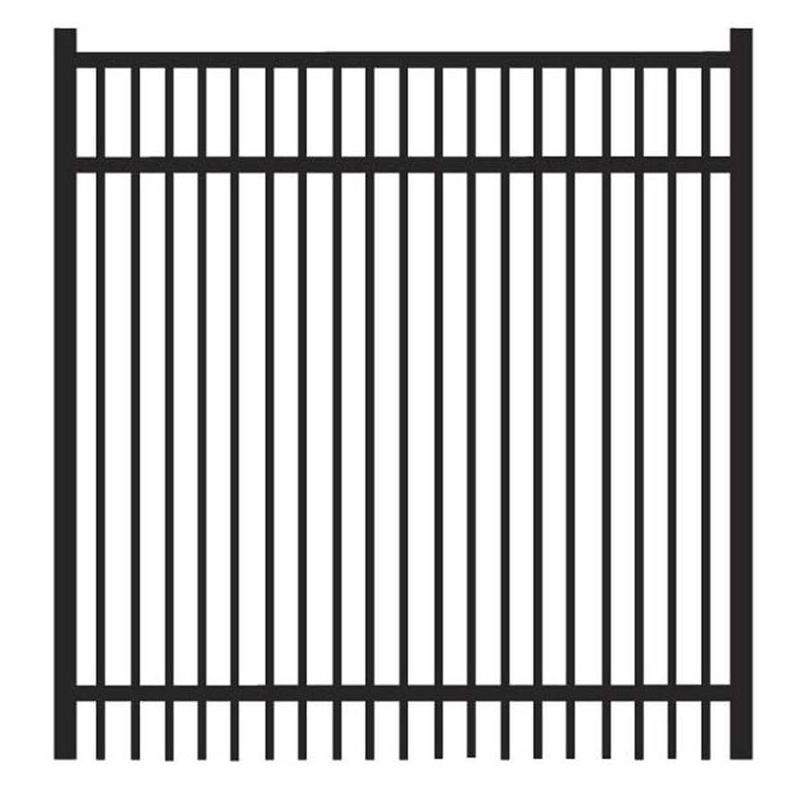 Freedom (Common: 4-ft x 4-ft; Actual: 4.04-ft x 3.875-ft) Sheffield Black Aluminum Decorative Fence Gate