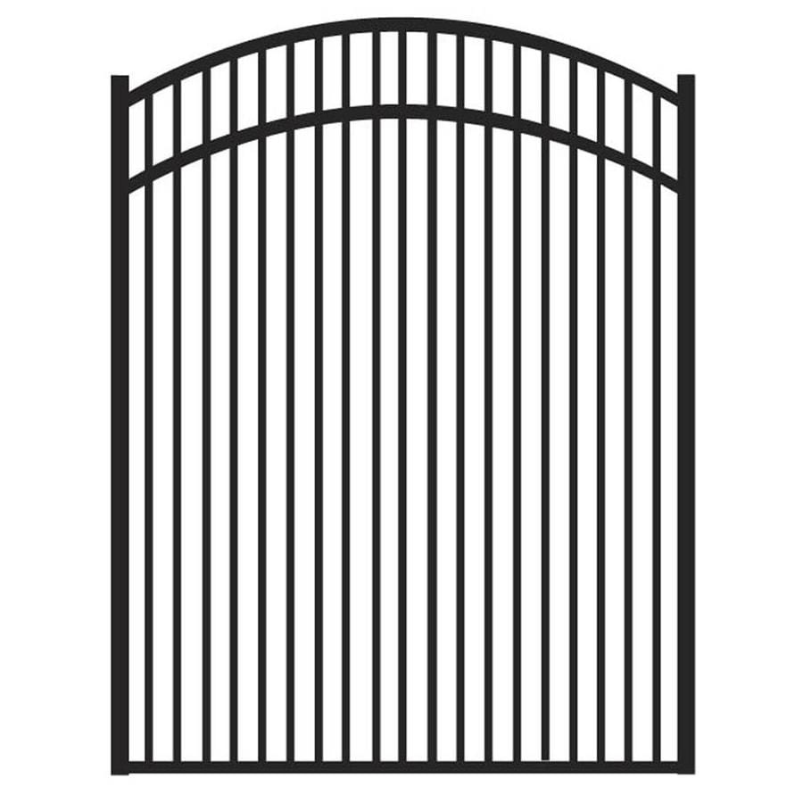 Freedom (Common: 4.5-ft x 4-ft; Actual: 4.625-ft x 3.875-ft) Sheffield Black Aluminum Decorative Fence Gate
