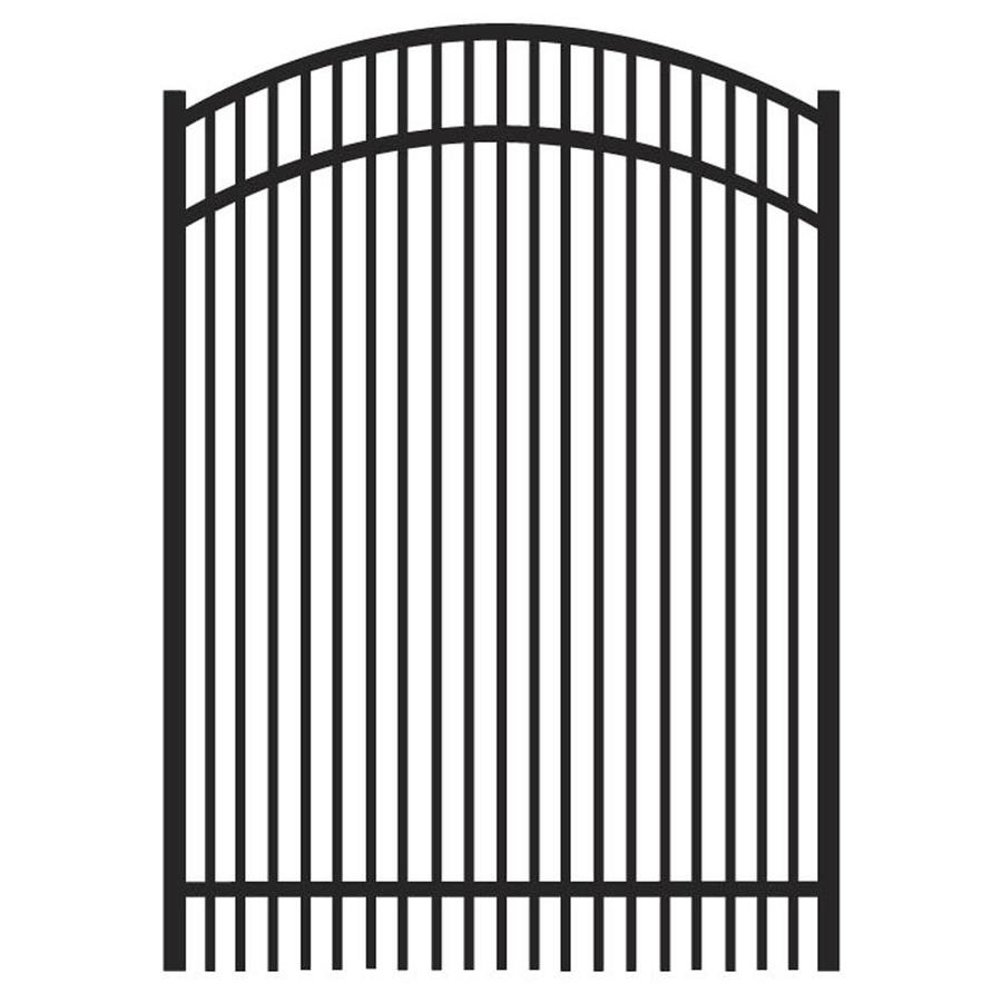 Freedom (Common: 5-ft x 4-ft; Actual: 5.04-ft x 3.875-ft) Sheffield Black Aluminum Decorative Fence Gate