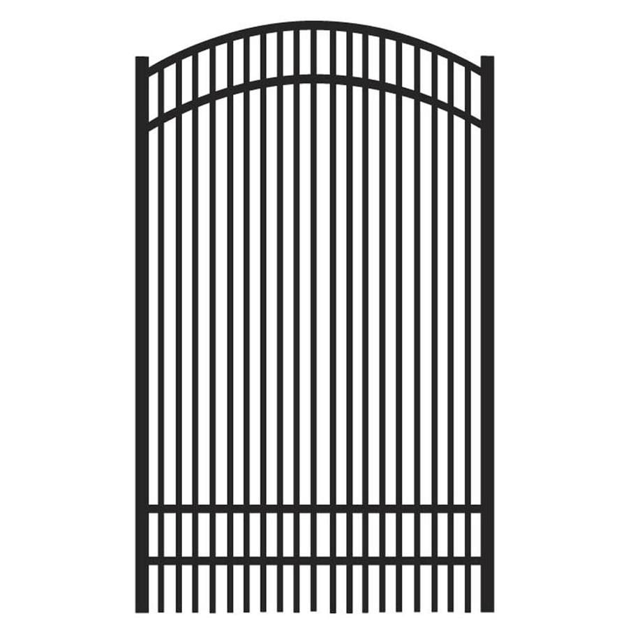 Freedom (Common: 6-ft x 4-ft; Actual: 6.04-ft x 3.875-ft) Sheffield Black Aluminum Decorative Fence Gate