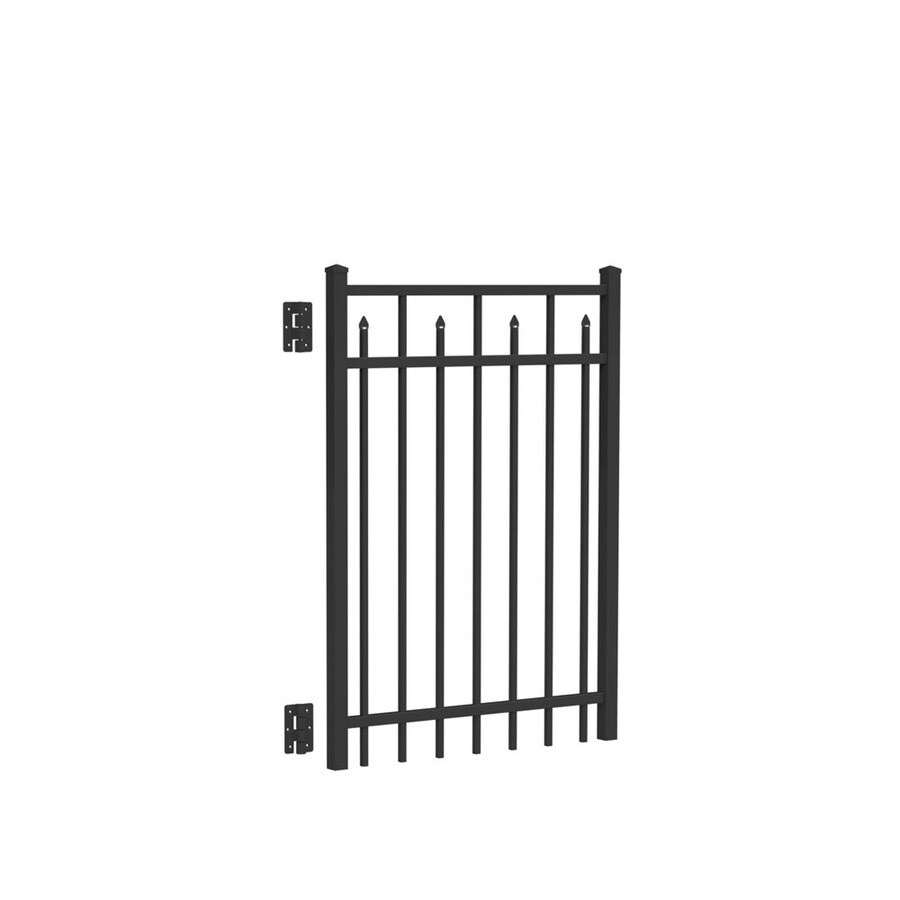 Freedom (Common: 4-ft x 3-ft; Actual: 4.04-ft x 2.875-ft) Concord Black Aluminum Decorative Fence Gate