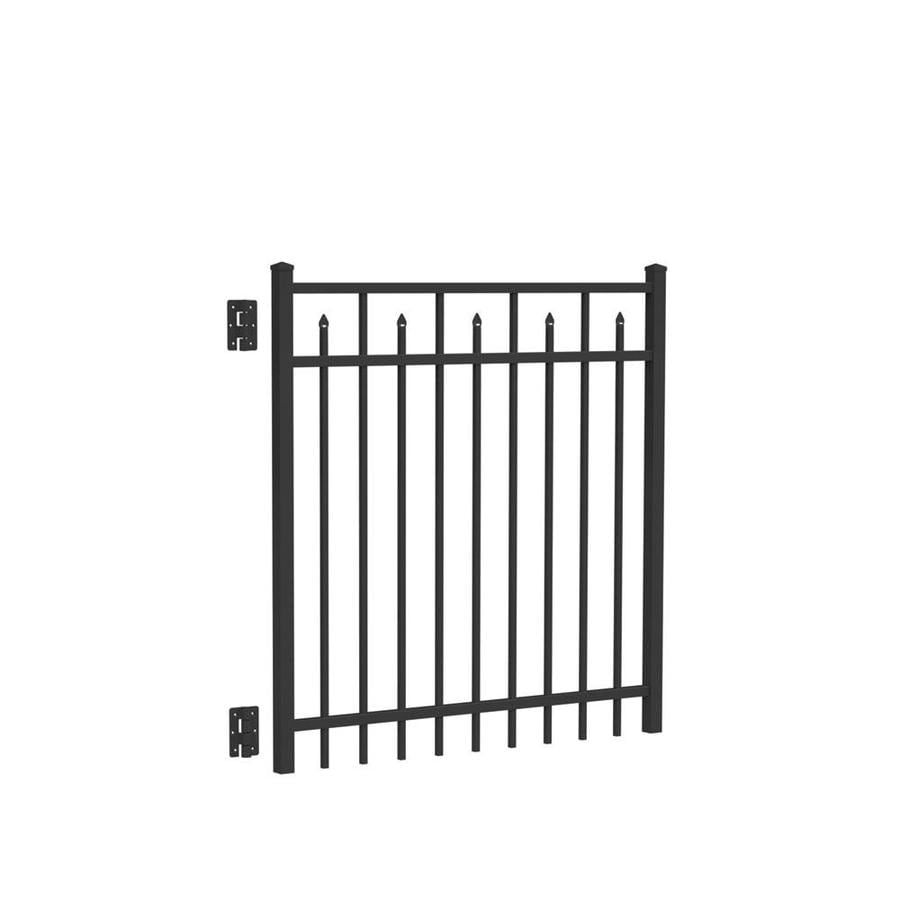 Freedom (Common: 4-ft x 5-ft; Actual: 4.04-ft x 4.875-ft) Concord Black Aluminum Decorative Fence Gate