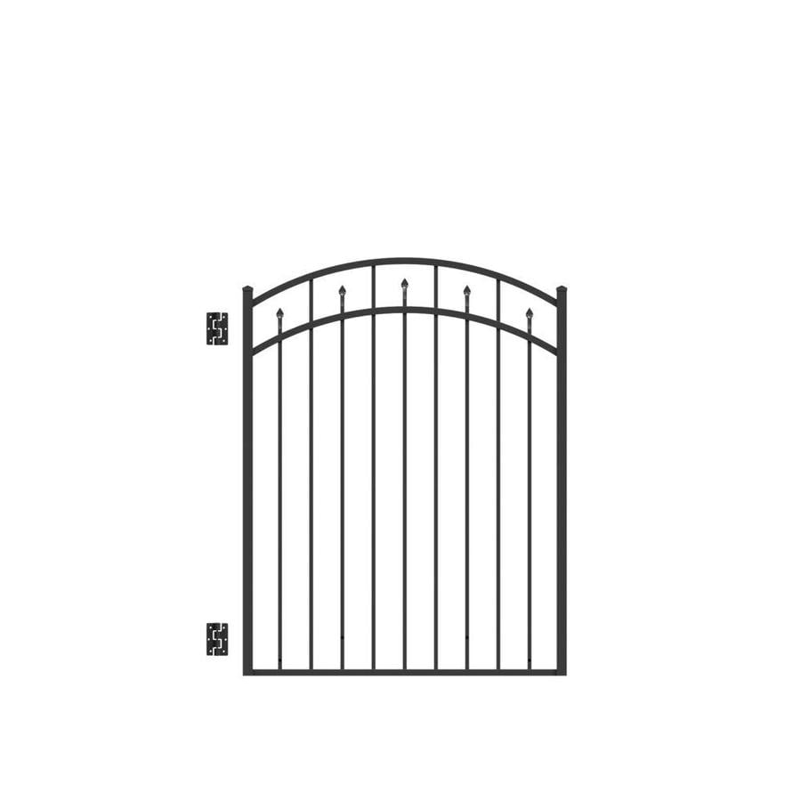 Freedom Concord Black Aluminum Decorative Fence Gate (Common: 4.5-ft x 4-ft; Actual: 4.625-ft x 3.875-ft)