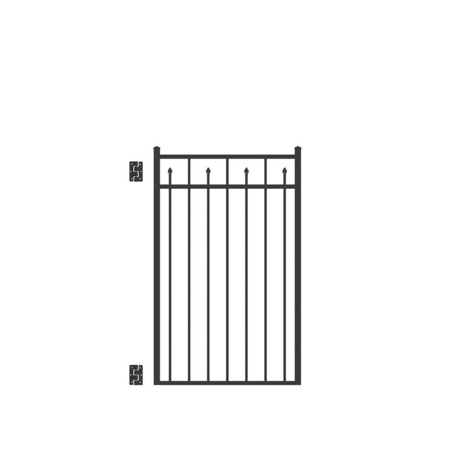 Freedom (Common: 4.5-ft x 3-ft; Actual: 4.625-ft x 2.875-ft) Concord Black Aluminum Decorative Fence Gate
