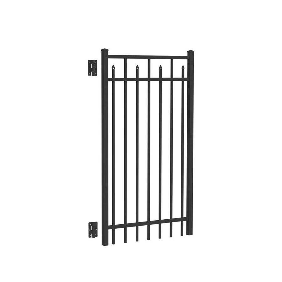Freedom (Common: 5-ft x 3-ft; Actual: 5.04-ft x 2.75-ft) Concord Black Aluminum Decorative Fence Gate
