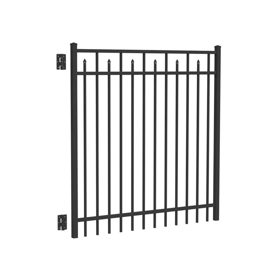 Freedom Concord Black Aluminum Decorative Fence Gate (Common: 5-ft x 5-ft; Actual: 5.04-ft x 4.875-ft)