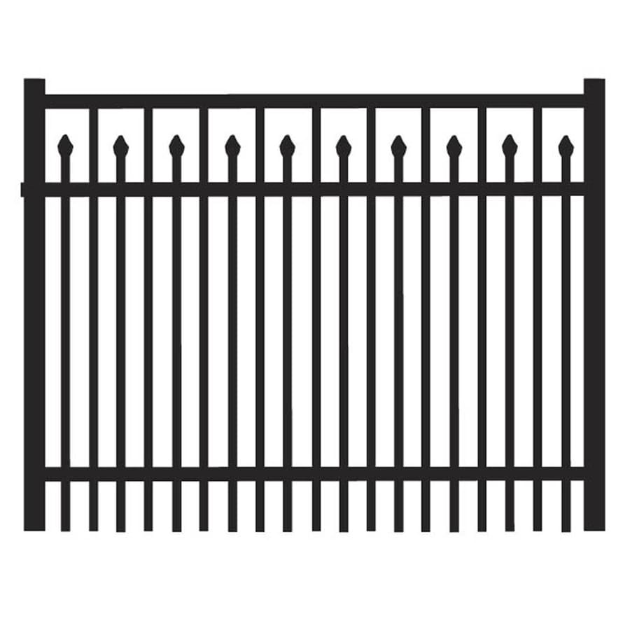 Freedom (Common: 3-ft x 4-ft; Actual: 3.04-ft x 3.875-ft) York Black Aluminum Decorative Fence Gate