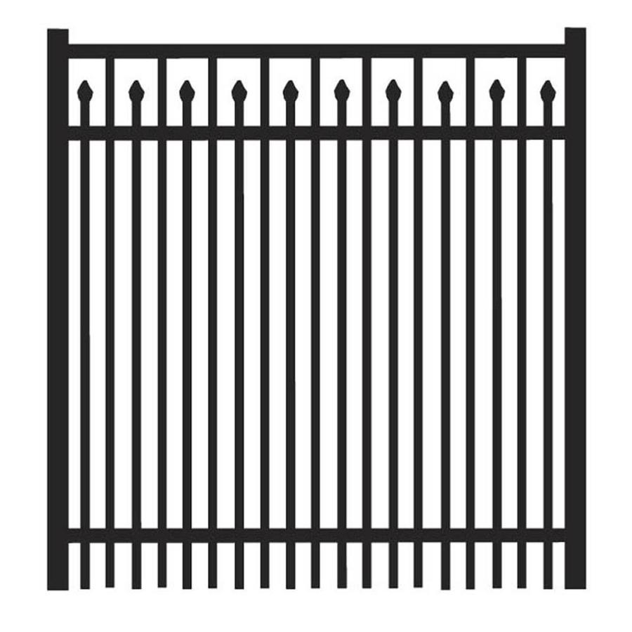 Freedom (Common: 4-ft x 4-ft; Actual: 4.04-ft x 3.875-ft) York Black Aluminum Decorative Fence Gate