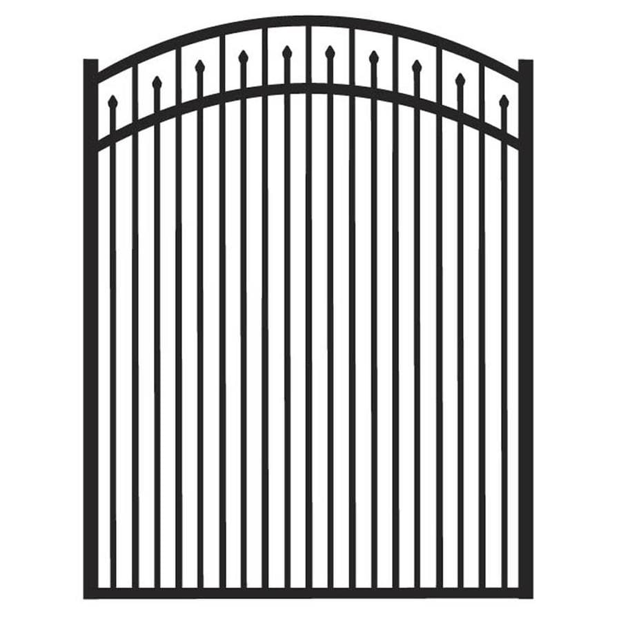 Freedom (Common: 4.5-ft x 4-ft; Actual: 4.625-ft x 3.875-ft) York Black Aluminum Decorative Fence Gate