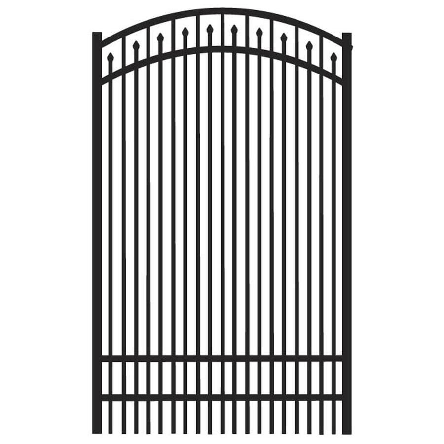 Freedom (Common: 6-ft x 4-ft; Actual: 6.04-ft x 3.875-ft) York Black Aluminum Decorative Fence Gate