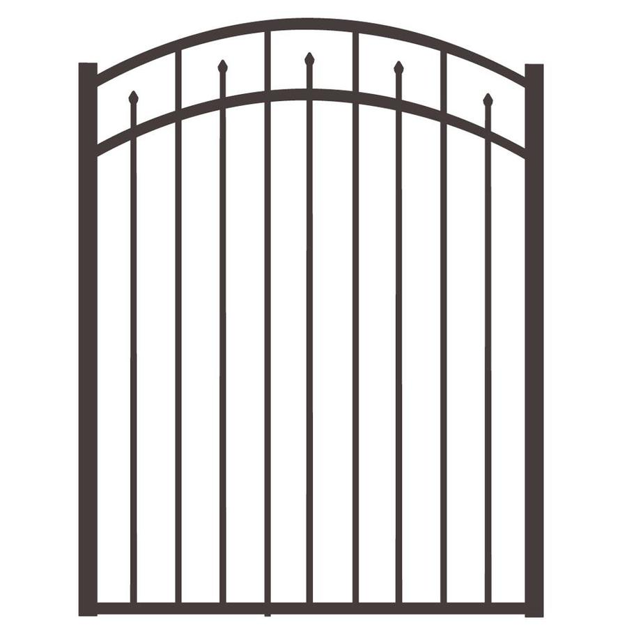 Freedom (Common: 4.5-ft x 4-ft; Actual: 4.625-ft x 3.875-ft) Concord Pewter Aluminum Decorative Fence Gate