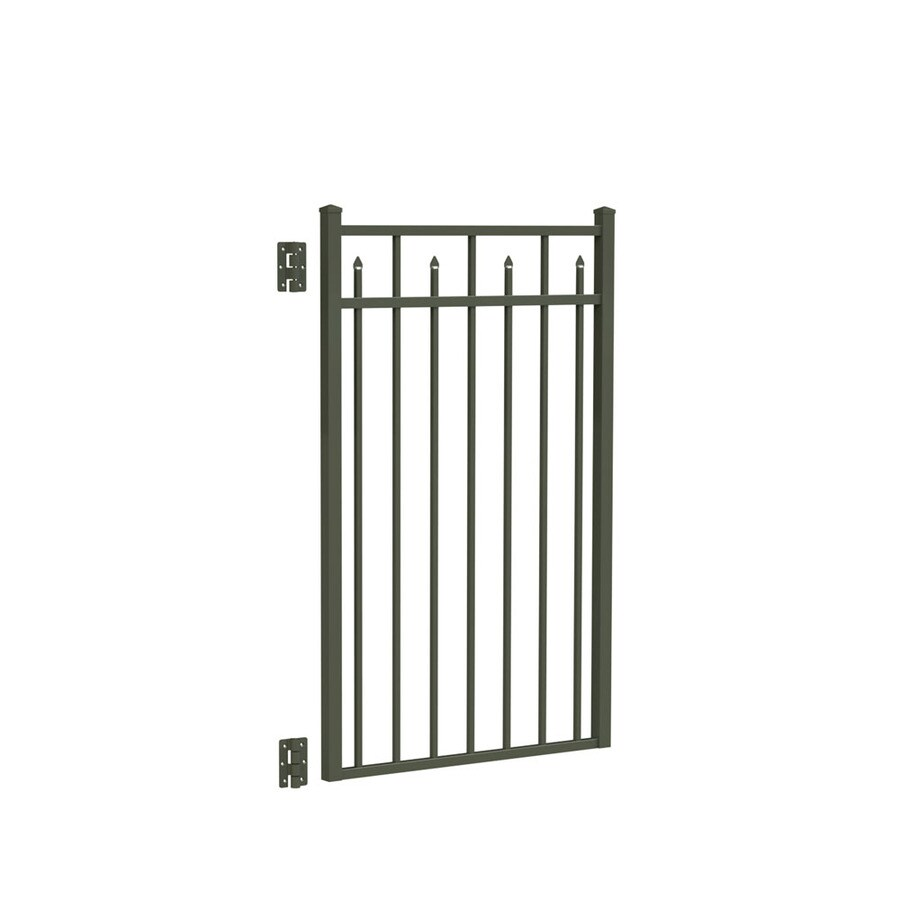 Freedom (Common: 4.5-ft x 3-ft; Actual: 4.625-ft x 2.875-ft) Concord Pewter Aluminum Decorative Fence Gate