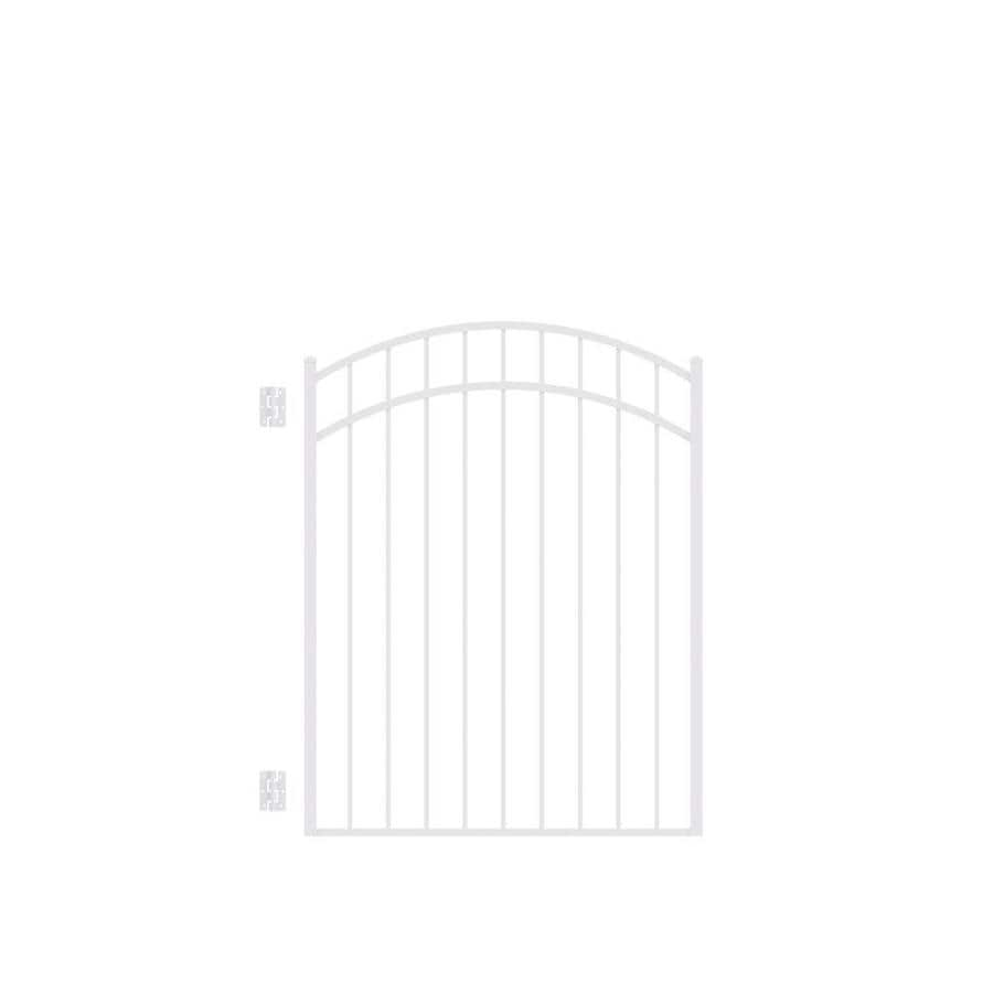 Freedom New Haven White Aluminum Decorative Fence Gate (Common: 4.5-ft x 4-ft; Actual: 4.625-ft x 3.875-ft)