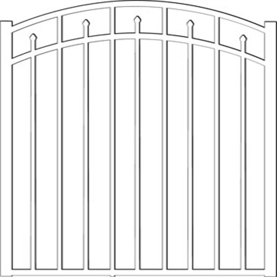 Freedom (Common: 4.5-ft x 4-ft; Actual: 4.625-ft x 3.875-ft) Concord White Aluminum Decorative Fence Gate