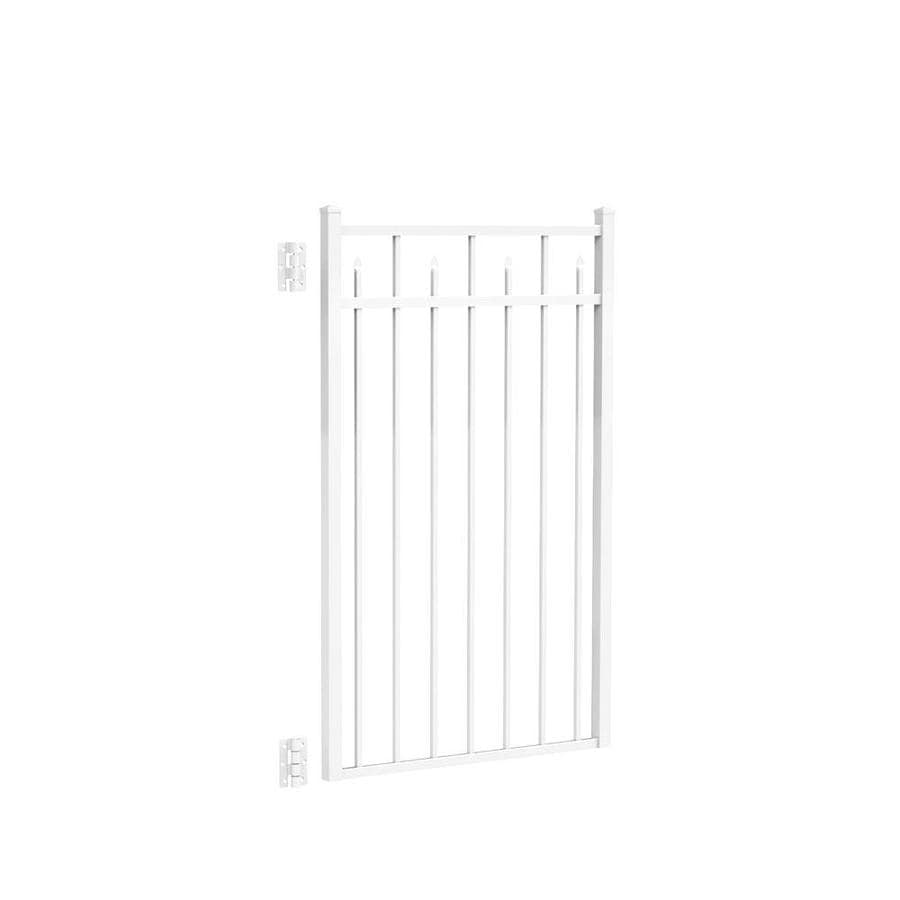 Freedom Concord White Aluminum Decorative Fence Gate (Common: 4.5-ft x 3-ft; Actual: 4.625-ft x 2.875-ft)