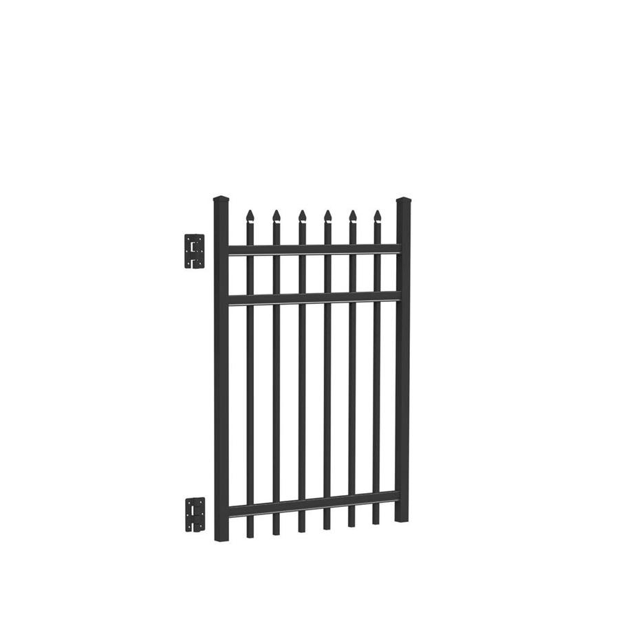 Freedom (Common: 4-ft x 3-ft; Actual: 4.02-ft x 2.875-ft) Providence Black Aluminum Decorative Fence Gate