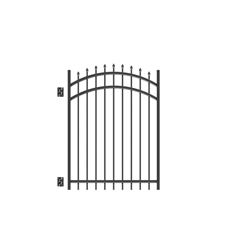 Freedom Providence Black Aluminum Decorative Fence Gate (Common: 5-ft x 4-ft; Actual: 5.02-ft x 3.875-ft)