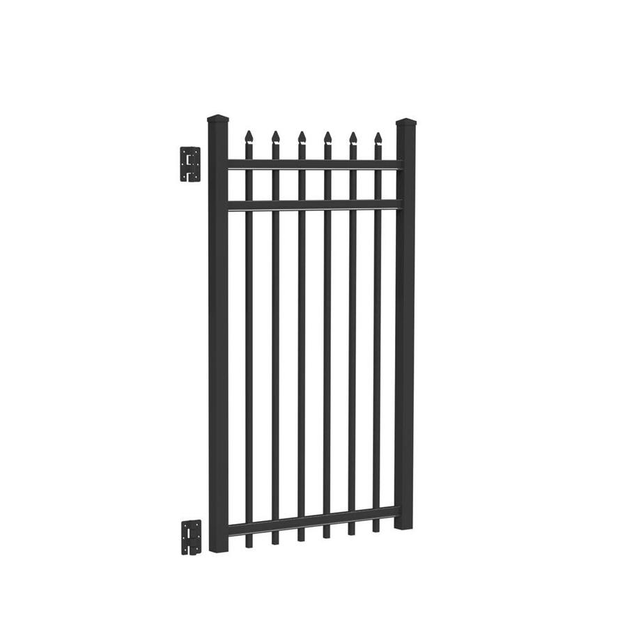 Freedom (Common: 5-ft x 3-ft; Actual: 5.02-ft x 2.875-ft) Providence Black Aluminum Decorative Fence Gate