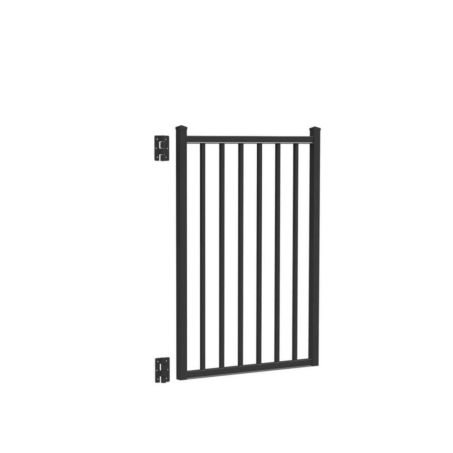 Freedom (Common: 4-ft x 3-ft; Actual: 4.16-ft x 2.875-ft) Easton Black Aluminum Decorative Fence Gate